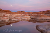 Lake Powell; Purple Moonrise