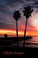 Sunset Behind the Pier, San Clemente CA