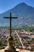 La Antigua Guatemala as seen from Cero De La Cruz (The Hill of the Cross)