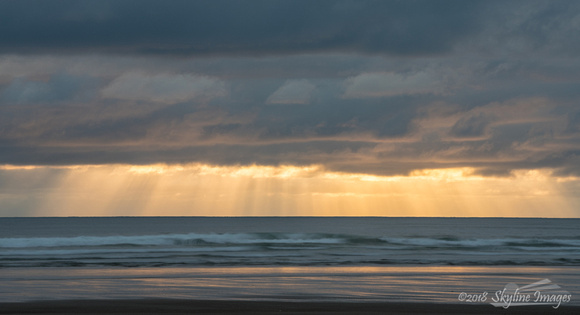 Crepuscular Rays, Cannon Beach Oregon