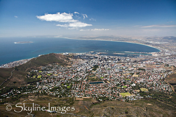 Capetown South Africa from Table Mountain