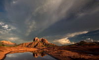 Cathedral Rock Reflected, Clearing Storm, Sedona AZ